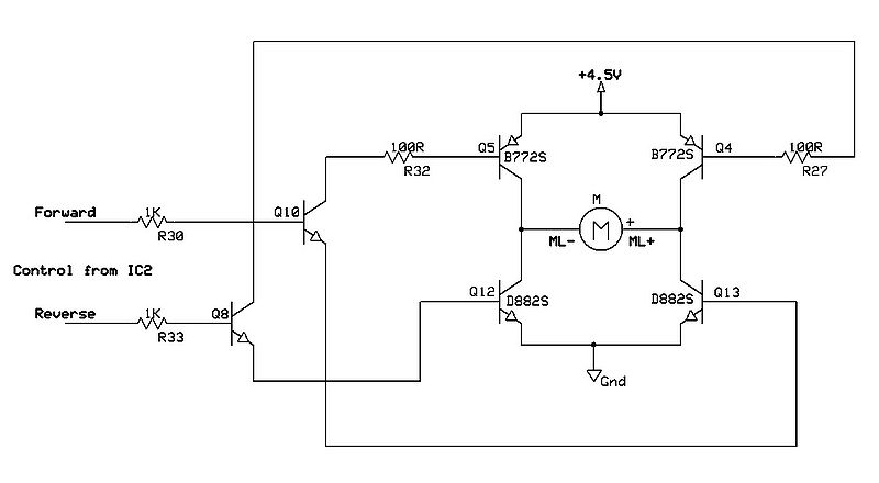 Motor control circuit diagram forward reverse for Forward reverse dc motor control circuit