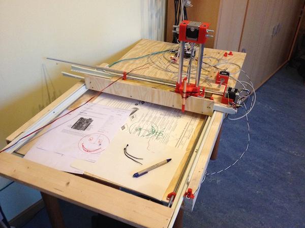 A Low-Fi Arduino Powered Vertical Plotter 3D Printerest